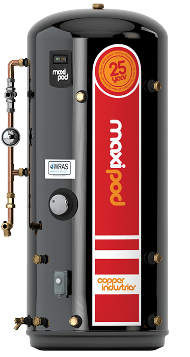 MaxiPod Pressurised Hot Water Cylinder